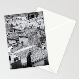 Romantic Lookout | Rooftops, France | Black & White | Travel & Street Photography | Fine Art Print  Stationery Cards