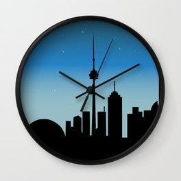 Toronto Skyline - Night Wall Clock
