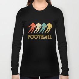 Running Back Retro Pop Art Football Long Sleeve T-shirt