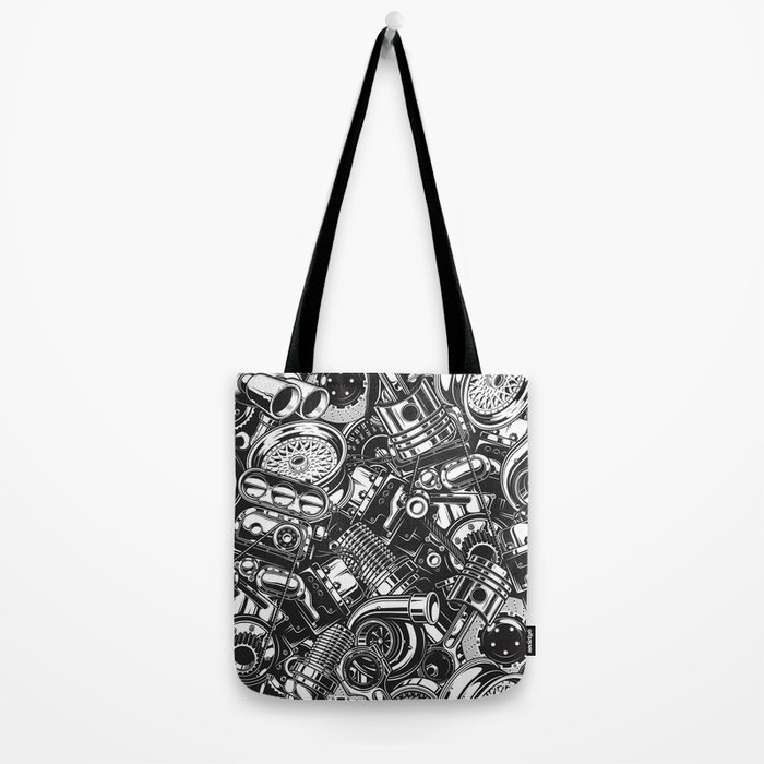 Automobile car parts pattern Tote Bag