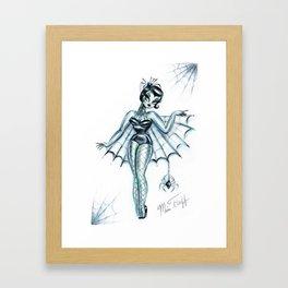 Black Widow Burlesque Doll Framed Art Print