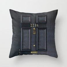 Classic Old sherlock holmes 221b door iPhone 4 4s 5 5c, ipod, ipad, tshirt, mugs and pillow case Throw Pillow