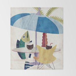 Day of the Fish Throw Blanket