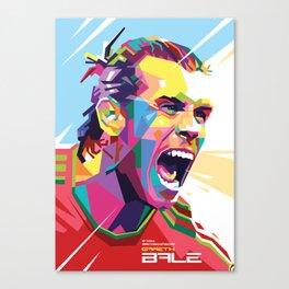 Gareth Bale in Colorful WPAP Canvas Print