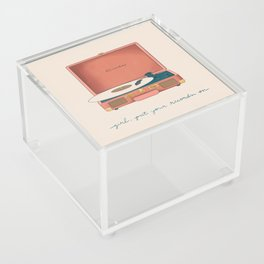 Girl, Put Your Records On Acrylic Box