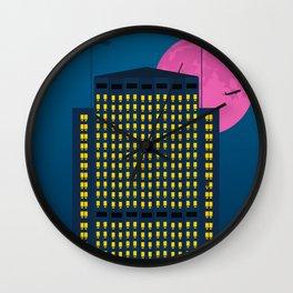 Shell Building by Night. London Wall Clock