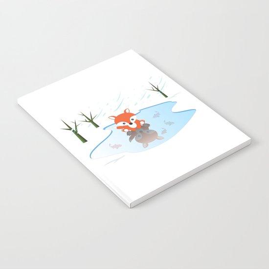 Little Fox On Ice Notebook
