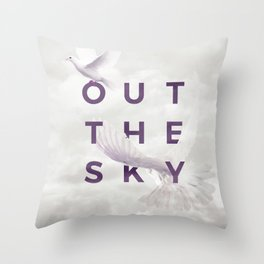 Out The Sky Throw Pillow