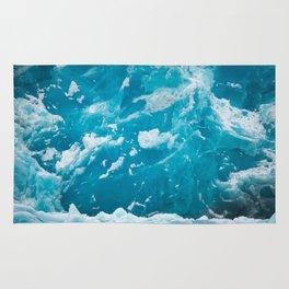HD Blue Ice Glacier Rug