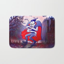 Dracula is Desperately Hungry Bath Mat