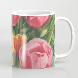 Pink and Yellow Tulips Coffee Mug