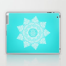 FLORAL MANDALA YASMINE TURQUOISE Laptop & iPad Skin