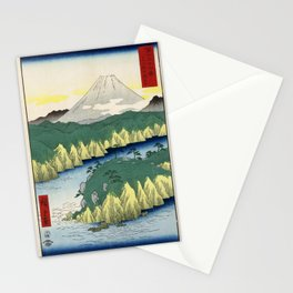 Hiroshige - 36 Views of Mount Fuji (1858) - 21: Lake at Hakone Stationery Cards