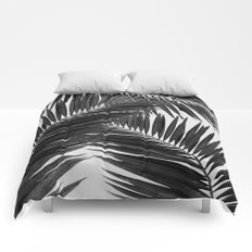 Palm Leaf Black & White III Comforters