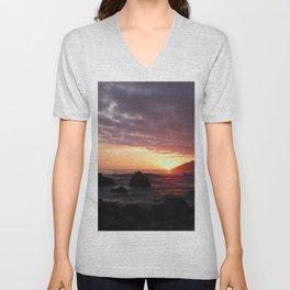 Beauty of the setting sun Unisex V-Neck