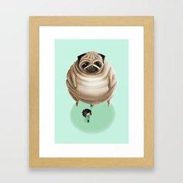 The Pug Framed Art Print