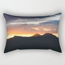 The Eildon Hills at Sunset Rectangular Pillow
