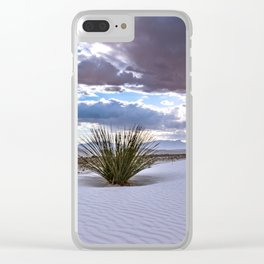 Yucca Plant in White Sands in New Mexico Clear iPhone Case