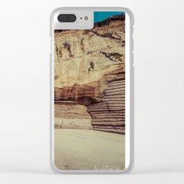 rock formation on solana beach, san diego, california Clear iPhone Case