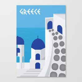 Greece Poster Canvas Print