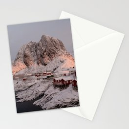 Hamnøy Winter Sunrise Stationery Cards