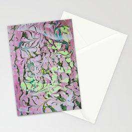 Pistachio Switchbacks marbleized print Stationery Cards