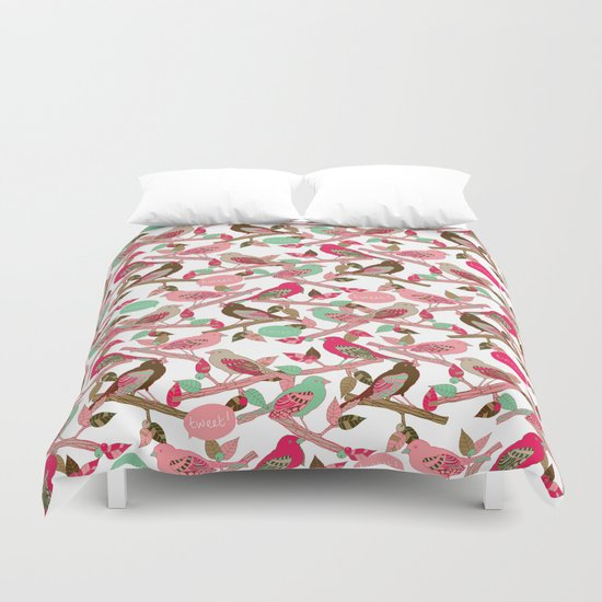 Tweet! Duvet Cover