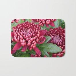 Red chrysanthemum Bath Mat