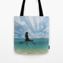 View from a Surfboard Tote Bag