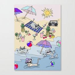 summer cats Canvas Print