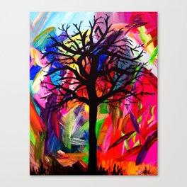 Vibrant Darkness Canvas Print