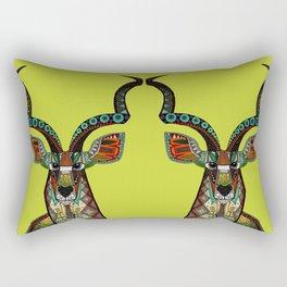 antelope chartreuse Rectangular Pillow