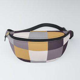 Purple and Gold Squares Fanny Pack