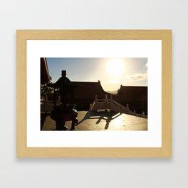 Chinese Shadows Framed Art Print