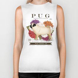 Pug dog seed packet artwork by Stephen Fowler Biker Tank
