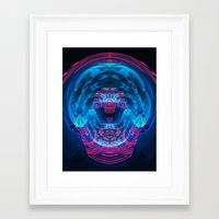 brain waves Framed Art Prints featuring Brain Waves by Carlos Alberto Torres