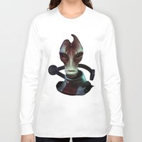 mass effect Long Sleeve T-shirts featuring Mass Effect: Mordin Solus by Ruthie Hammerschlag