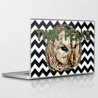 twin peaks Laptop & iPad Skins featuring Twin Peaks by Avlis Leumas