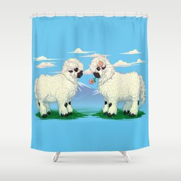 Edelweiss and Cosmos Shower Curtain