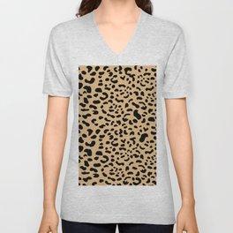 Leopard print - Earth Unisex V-Neck
