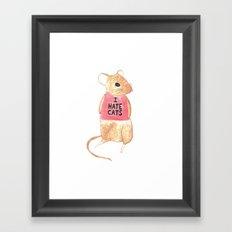 Feline Phobia  Framed Art Print