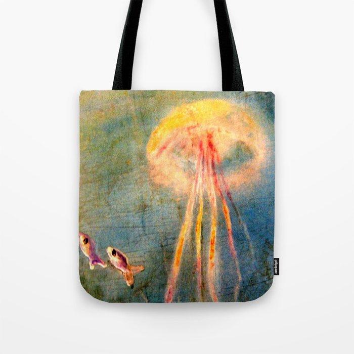 Glow of the jellyfish Tote Bag