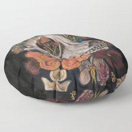 Mushroom Skull Floor Pillow