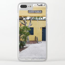 Yellow Entrance Clear iPhone Case