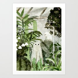 There's A Ghost in the Greenhouse Again Art Print