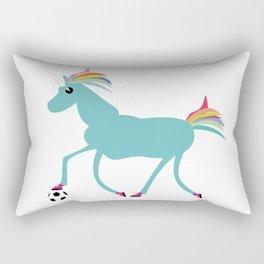 Arthur, the Unicorn, plays Football Rectangular Pillow