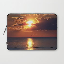 Flaming sky over Sea - Nature at its best Laptop Sleeve