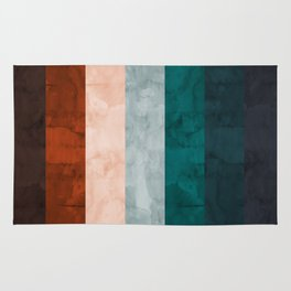 Watercolor colorful bands Rug