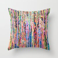 data Throw Pillows featuring Data by Katie Troisi