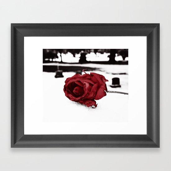 Frozen love Framed Art Print